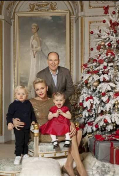 Le prince Albert de Monaco, Charlène, Jacques et Gabriella