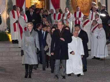 Le prince Albert II et Charlène de Monaco lors de la cérémonie Sainte Dévote