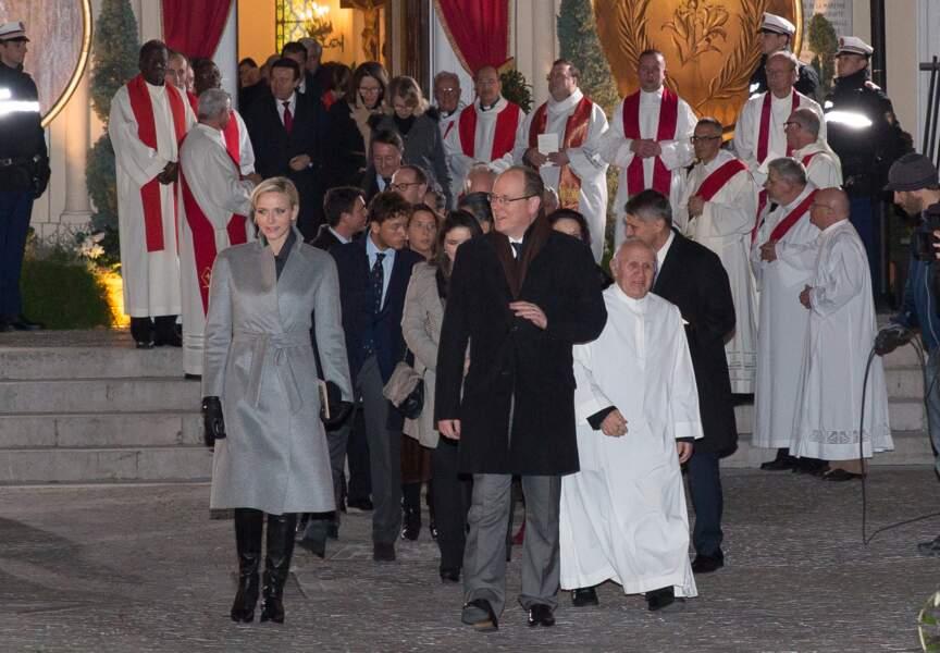 Le couple princier au départ de la procession