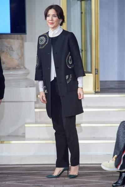 La Princesse Mary de Danemark à la Fashion Week de Copenhague le 31 janvier 2017