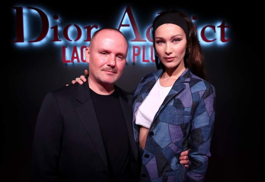 Peter Philips, directeur de l'image Dior et Bella Hadid, l'égérie de Dior Addict Lacquer Plump