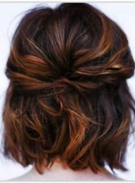 L'attache discrète sur cheveux courts
