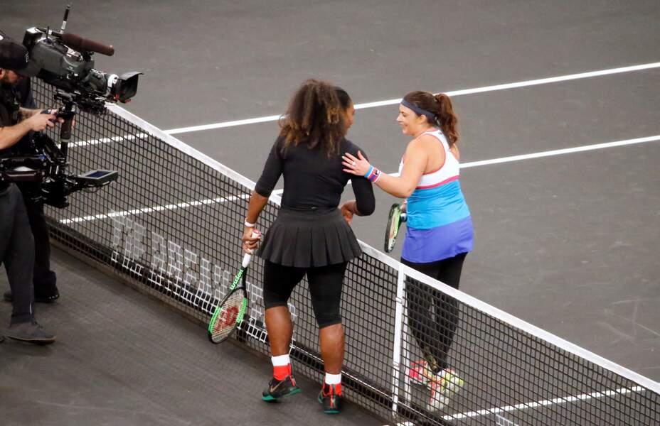 Serena Williams et Marion Bartoli ont prouvé leur complicité sur le court