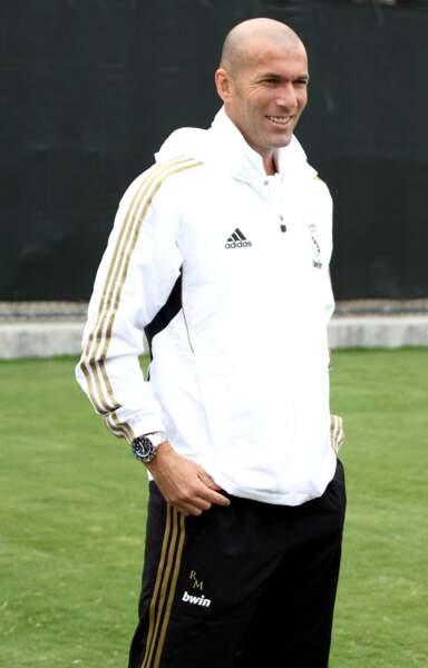 Zinédine Zidane lors d'un entraînement du Real Madrid à Los Angeles le 12 juillet 2011