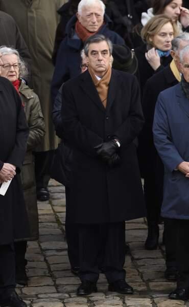 François Fillon lors de la cérémonie en hommage à Jean d'Ormesson aux Invalides