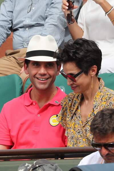Mika et Farida Khelfa - People dans les tribunes lors de la finale homme de Roland-Garros
