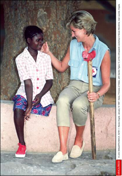 Lady Diana, en Angola, en 1997