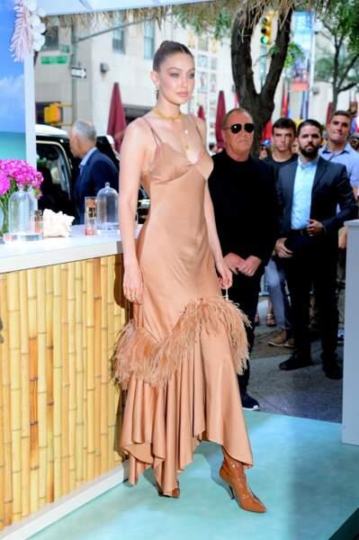Gigi Hadid a fait sensation ce 16 juillet à New York, avec cette création signée Michael Kors