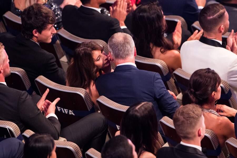 Claude Deschamps fière de son mari, Didier, sacré meilleur entraineur lors de la soirée The Best 2018