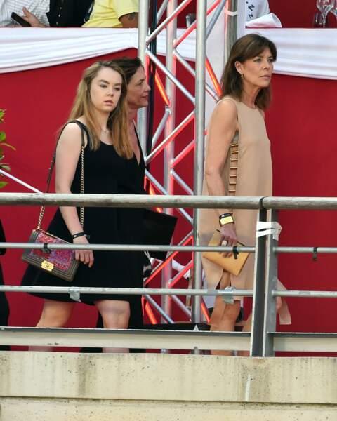 La princesse Alexandra de Hanovre et la princesse Caroline de Hanovre à Monte-Carlo le 27 juin 2015