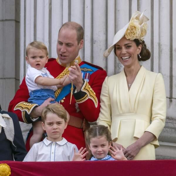 Le Prince William, Kate Middleton et leurs trois enfants