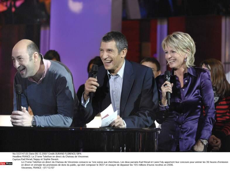 Moment de rigolade avec Kad Merad et Nagui en 2007