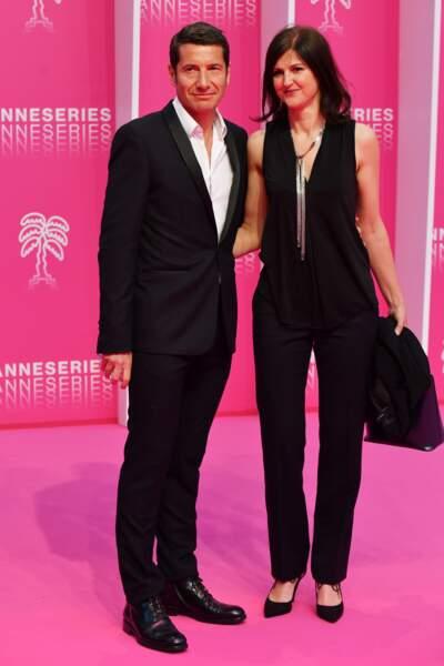 Le maire de Cannes David Lisnard et son épouse