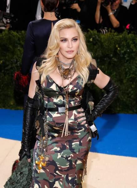 Madonna (60 ans), sur le tapis rouge du MET Costume Institute Gala, en 2017