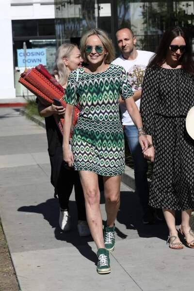 Sharon Stone a été aperçue entourés d'amis à Los Angeles, ce jeudi 18 juillet