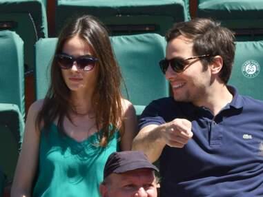 Vianney et sa compagne lors de la finale dames de Roland Garros à Paris le 10 juin 2017