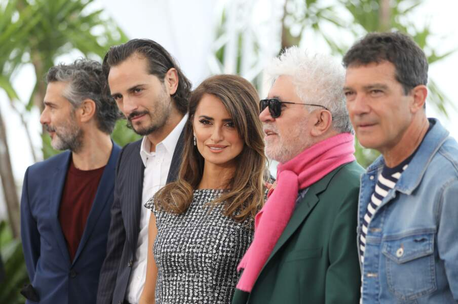 "Penélope Cruz lors du photocall du film ""Douleur et gloire"" de Pedro Almodovar"