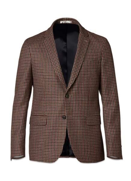 Veste en flanelle de laine par Lanificio F.lli Cerruti, De Fursac, 535 €.