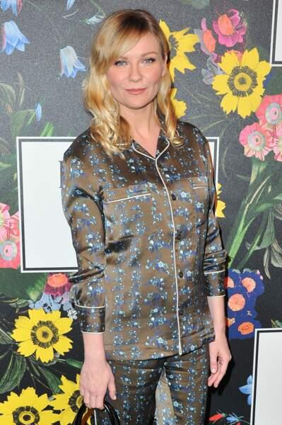 Pour cette soirée, Kirsten Dunst a utilisé la téchnique du contour des lèvres