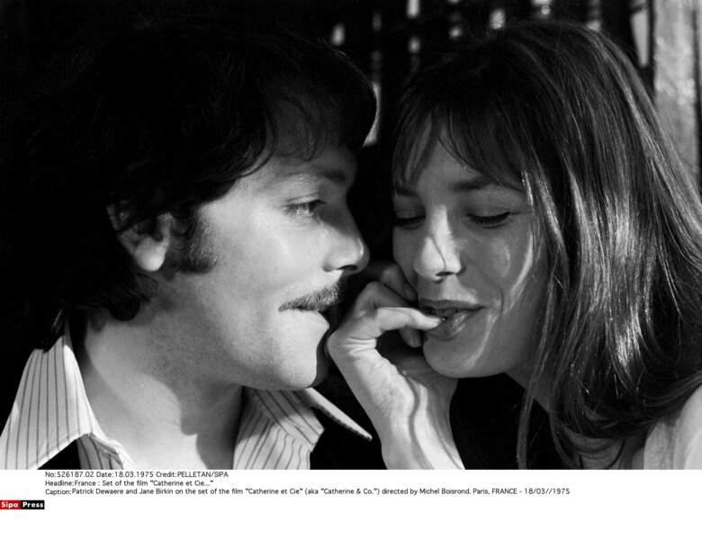 """Avec Patrick Dewaere dans """"Catherine et Cie"""" en 1975"""