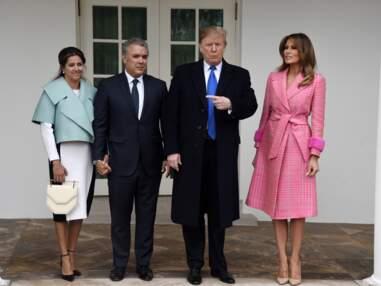 Melania Trump, en total look rose Barbie