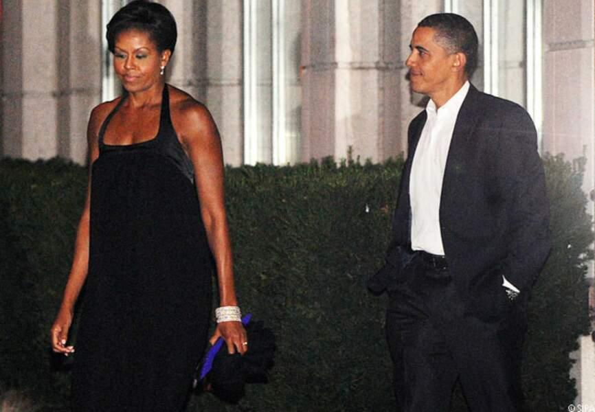 Barack et Michelle fêtent leurs 17 ans de mariage, Washington, le 3 octobre 2009