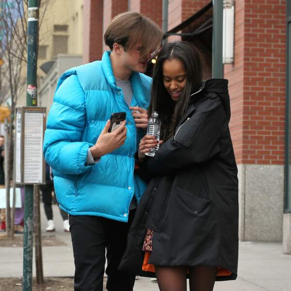 Malia Obama et Rory Farquharson font du shopping dans le quartier de Soho, le 20 janvier 2018