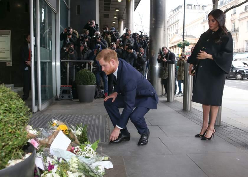 Le prince Harry à la New Zealand House à Londres, le 19 mars 2019