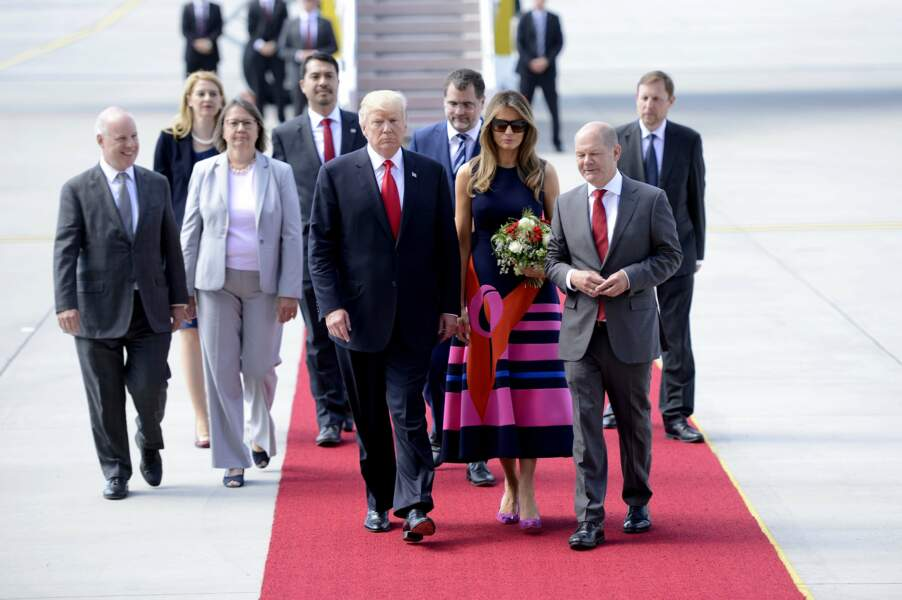 Le couple présidentiel a rencontré le président polonais et son épouse