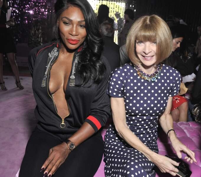 Serana Williams et Anna Wintour chez Gucci