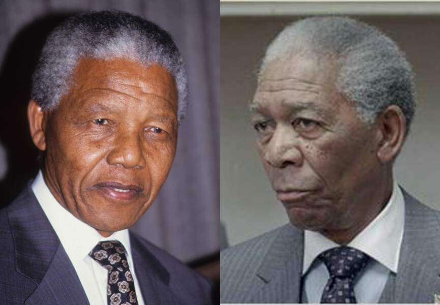 Mrogan Freeman interprète nelson Mandela