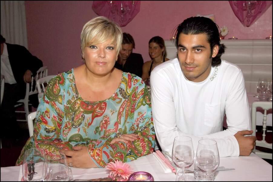 Laurence Boccolini et Mickael Fakailo à Paris en 2005