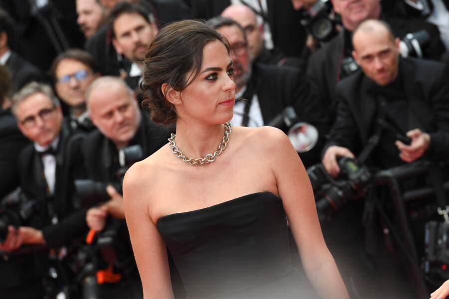 Le chignon flou d'Anouchka Delon par Franck Provost, le 14 mai 2019 à Cannes