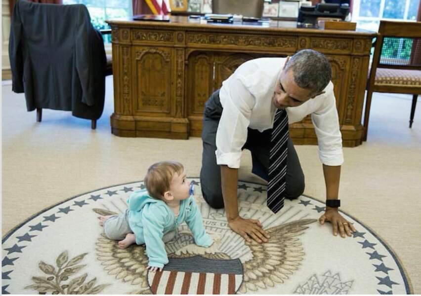Barack et un jeun admirateur