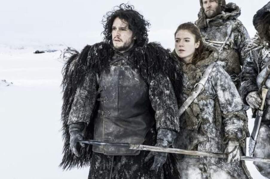 Kit Harington et Rose Leslie dans la série Game of Thrones
