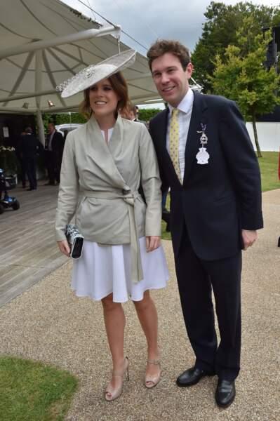 La princesse Eugenie d'York et son futur mari Jack Brooksbank pour la journée des femmes de la Qatar Goodwood Race
