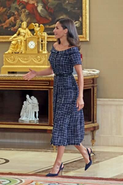 Les chaussures de Letizia d'Espagne était assorties à sa tenue