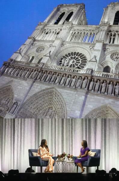 L'ancienne première dame a évoqué l'incendie de Notre Dame