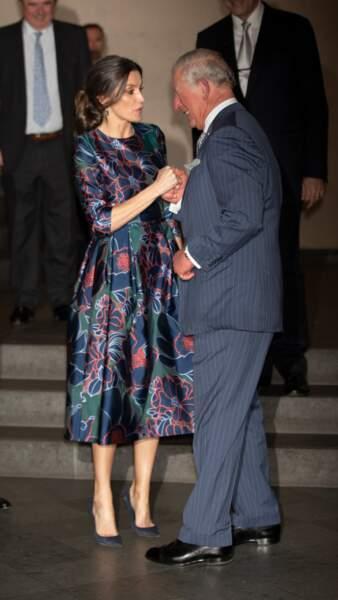 Le prince Charles a accueilli la reine Letizia d'Espagne ce 13 mars à Londres