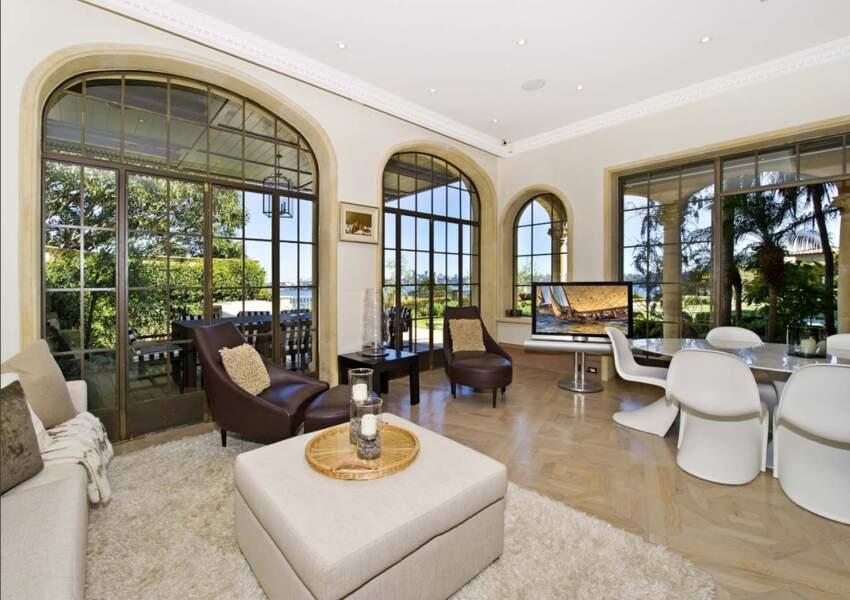L'un des salons de la résidence de Meghan Markle et du prince Harry en Australie