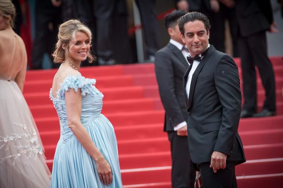 Sylvie Tellier enceinte et son mari Laurent