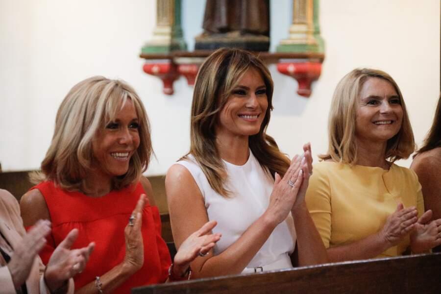 Ensemble, Brigitte Macron et Melania Trump ont passé du bon temps durant le G7