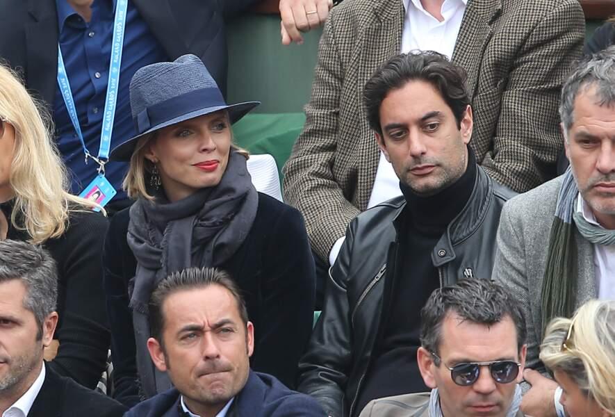 Sylvie Tellier et Laurent à Roland Garros en 2016