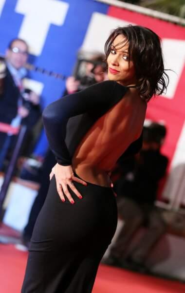 Shy'm fait sensation avec sa robe au dos nu très échancré lors de la cérémonie des NRJ Music Awards à Cannes le 26 Janvier 2013