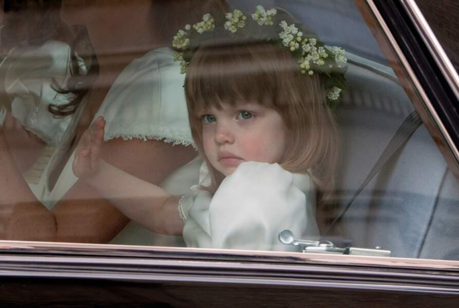 Eliza Lopes avait 3 ans lors du Royal Wedding (ici dans la voiture qui la conduit à l'Abbaye de Westminster)