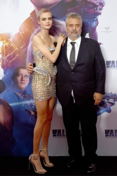 Luc Besson et sa Laureline interprétée par Cara Delevingne