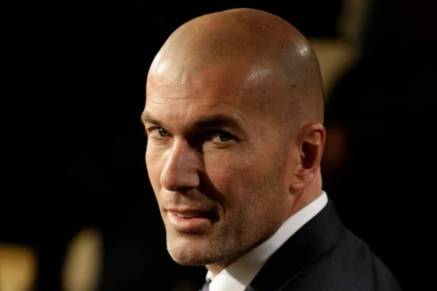 Zinedine Zidane lors de l'annonce de sa nomination comme entraîneur du Real de Madrid le 5 janvier 2015