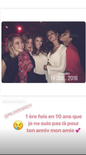 Rachel Legrain-Trapani a ressorti quelques vieilles photos pour l'anniversaire de Malika Ménard, le 14 juillet 2019