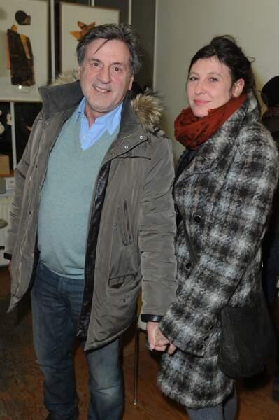 Daniel Auteuil et sa femme au vernissage de l'exposition du peintre Pierre-Marie Brisson