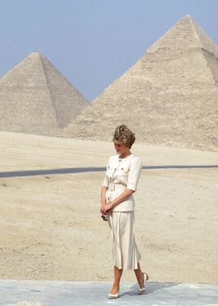 Lady Diana, à Gizeh, en 1992